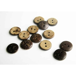 13mm Circle Coconut Button