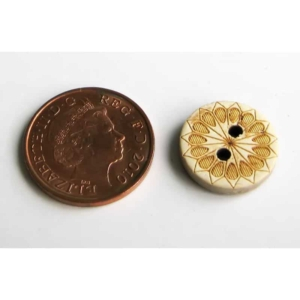 15mm Pattern Coconut Button