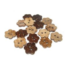 17mm Flower Coconut Button