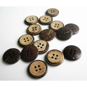 Groove Circle Coconut Button