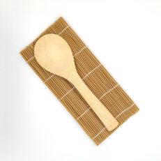Bamboo Sushi Mat and Rice Paddle