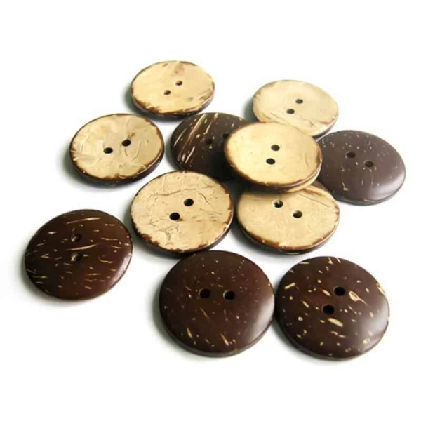 25mm Circle Coconut Button