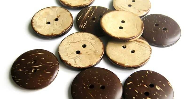 25mm Circle Coconut Button