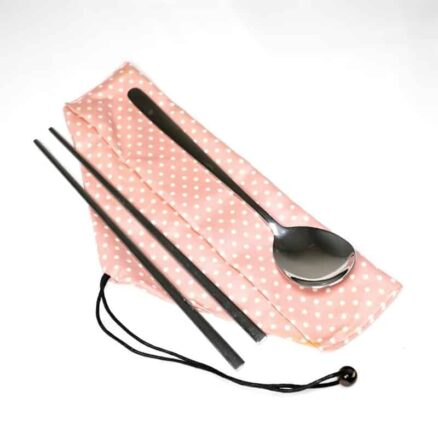 Steel Chopsticks and Spoon