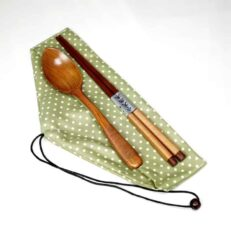 Wooden Chopstick & Spoon set