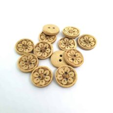 13mm Round Flower Coconut button