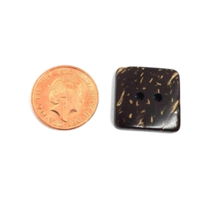 17mm Square Coconut button