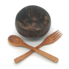 Coconut Bowl and Cutlery set