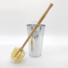 Bamboo Toilet Brush and Bucket